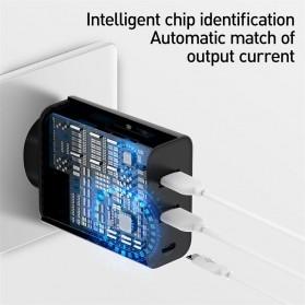 Baseus Fast 3U Charger USB Type C QC3.0 PD 3 Port 60W - BS-EU910 - Black - 6