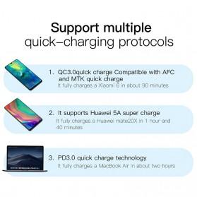 Baseus Charger Dual USB QC3 PD 2 Port 30W - BS-EU906 - Black - 3