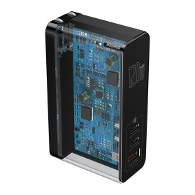 Baseus GaN Mini Charger USB Type C+C+A PD Quick Charge 3 Port 120W - CCGAN-J01 - Black - 3
