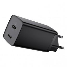 Baseus GaN2 Lite Charger PD QC 2 Port USB Type C 65W - CCGAN2L-E01 - Black