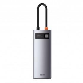 Baseus Metal Gleam 5-in-1 USB Type C Hub 3 USB 3.0 + HDMI + Type C PD Charging - CAHUB-CX0G - Black - 3