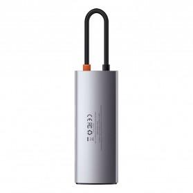 Baseus Metal Gleam 5-in-1 USB Type C Hub 3 USB 3.0 + HDMI + Type C PD Charging - CAHUB-CX0G - Black - 6