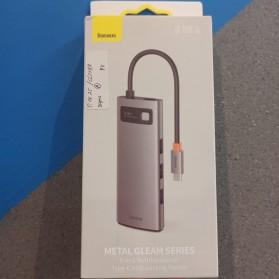 Baseus Metal Gleam 5-in-1 USB Type C Hub 3 USB 3.0 + HDMI + Type C PD Charging - CAHUB-CX0G - Black - 7