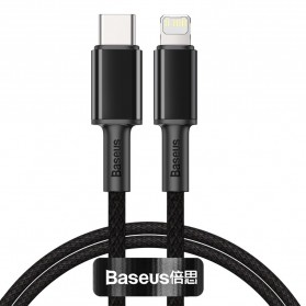 Baseus Kabel Charger USB Type C to Lightning PD 20W 1 Meter - CATLGD-01 - Black