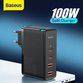Baseus GaN2 Pro Charger 2 USB Type C+ 2 USB Port 100W - CCGAN2P-L01 - Black
