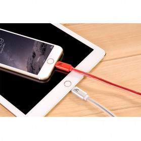 Hoco UPL12 Jelly Coat Lightning Braided Cable 1.2m for iPhone 6/6+/5/5s - Silver - 3