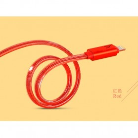Hoco UPL12 Jelly Coat Lightning Braided Cable 1.2m for iPhone 6/6+/5/5s - Red