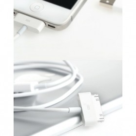 Hoco UP301 30 Pin Apple Cable for iPhone 4/4s iPad 1 - White - 2