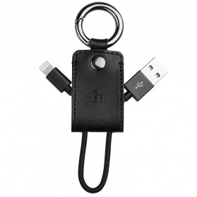 Hoco UPL19 Key Chain Portable Lightning Cable for iPhone 5/6/7/8/X - Black