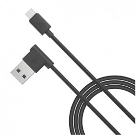 Hoco UPM10 L Shape Micro USB Cable for Smartphone - Black - 1