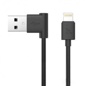 Hoco UPL11 L Shape Lightning USB Cable for iPhone - Black