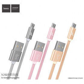 Hoco X2 USB Type C Braided Cable for Smartphone - Golden - 7