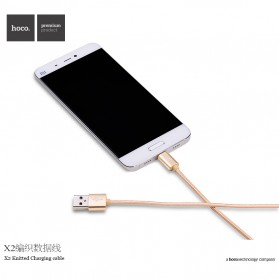 Hoco X2 USB Type C Braided Cable for Smartphone - Golden - 8