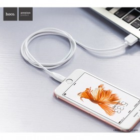 Hoco X1 Lightning Charging Cable 1m for iPhone/iPad - White - 3