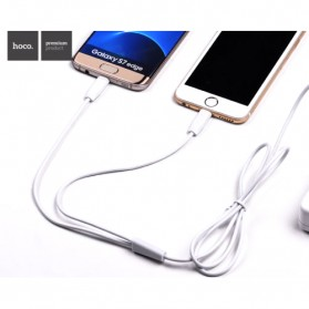 Hoco X1 2 in 1 Lightning and Micro USB Charging Cable 1m - White - 2