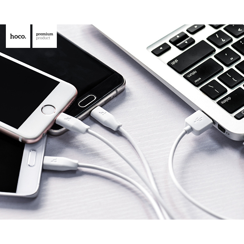 Hoco X1 3 in 1 Lightning Micro USB and USB Type C Charging .