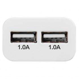 Hoco UH202 Dual USB Port Quick Charger EU Plug 1.0A - White - 4