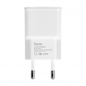 Hoco UH202 Dual USB Port Quick Charger EU Plug 1.0A - White - 5