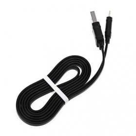 Hoco X5 Lightning Charging Cable 1M for iPhone/iPad - Black - 3