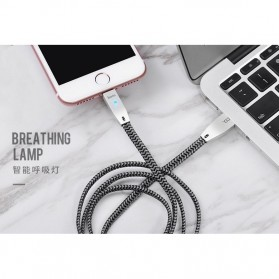 HOCO U11 Kabel Charger Lightning Auto Disconnect - Silver - 5