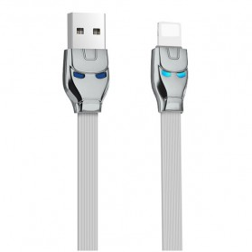 HOCO U14 Iron Man Kabel Charger Lightning - Gray