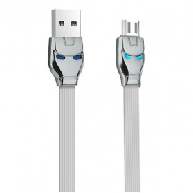 HOCO U14 Iron Man Kabel Charger Micro USB - Gray