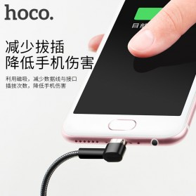 Hoco Kabel Charger Magnetic Lightning & Micro USB for Smartphone - Black - 3