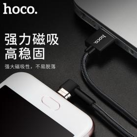 Hoco Kabel Charger Magnetic Lightning & Micro USB for Smartphone - Black - 4