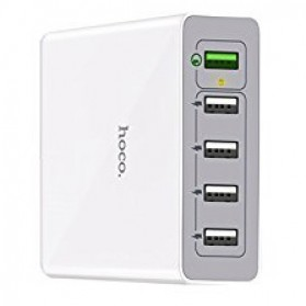 Hoco USB Wall Travel Charger 5 Port QC3.0 - C18A - White