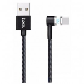 Hoco Kabel Charger Magnetic Type C for Smartphone - U20 - Black