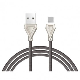 HOCO U25 Armor Series Kabel Charger Lightning - Dark Gray