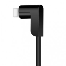 Hoco X12 Magnetic 2 in 1 Kabel Charger Lightning + Micro USB - Black - 3