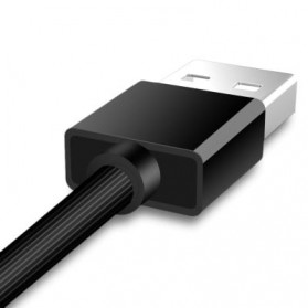 Hoco X12 Magnetic 2 in 1 Kabel Charger Lightning + Micro USB - Black - 4