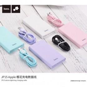 HOCO JP15 Sakura Kabel Charger Micro USB - Sky Blue - 4