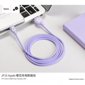 HOCO JP15 Sakura Kabel Charger USB Type C - Sky Blue - 2
