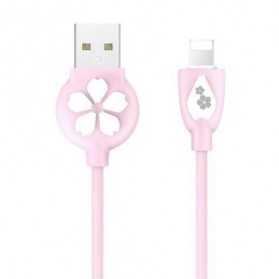 Laptop / Notebook - HOCO JP15 Sakura Kabel Charger Lightning - Pink