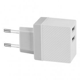 HOCO Charger USB 2 Port 2.4A - C23A - White