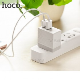 HOCO Charger USB 2 Port 2.4A - C23A - White - 3