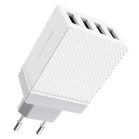 HOCO Charger USB 4 Port 3.4A - C23B - White