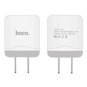 HOCO Charger USB 1 Port 2.4A - C22 - White
