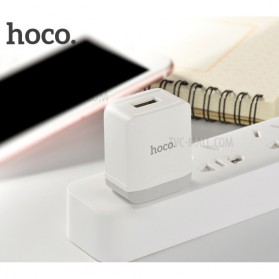 HOCO Charger USB 1 Port 2.4A - C22 - White - 5