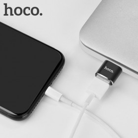 HOCO UA5 USB Type C to USB Type A OTG Adapter Converter - Black - 4