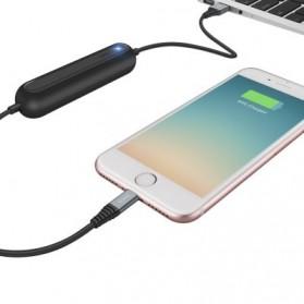 HOCO U22 Power Bank 2000mAh dengan Kabel Charger Micro USB 1.2 Meter - Black - 5