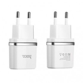 HOCO Charger USB 2 Port 2.4A EU Plug - C12 - Black - 4