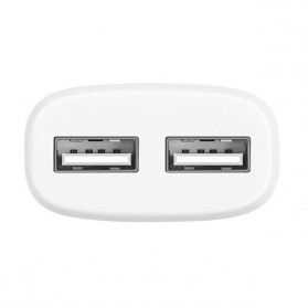 HOCO Charger USB 2 Port 2.4A EU Plug - C12 - White - 2