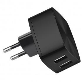 HOCO Charger USB Dual Port 2.4A EU Plug - C26A - Black