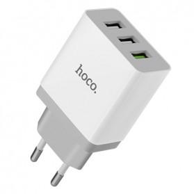 HOCO Bele Charger USB 3 Port 3A QC 3.0 - C24B - White