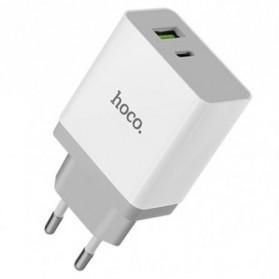 HOCO Bele Charger USB 2 Port 3A QC 3.0 - C24A - White