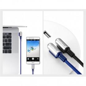 HOCO U17 Capsule 3 in 1 Kabel Charger Lightning + Micro USB + USB Type C - Black - 5