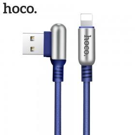 Hoco U17 Capsule Kabel Charger Lightning 1.2 Meter - Blue